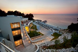 Hotel Kempinski Adriatic - sunset over the sea